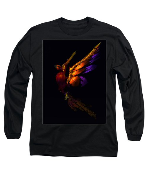Long Sleeve T-Shirt featuring the digital art The Phoenix Rising... by Tim Fillingim