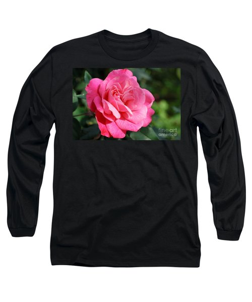 Long Sleeve T-Shirt featuring the photograph The Pink Rose by Fotosas Photography