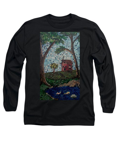 Long Sleeve T-Shirt featuring the painting The Pond by Cynthia Amaral