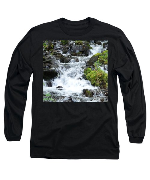 Long Sleeve T-Shirt featuring the photograph The Roadside Stream by Chalet Roome-Rigdon