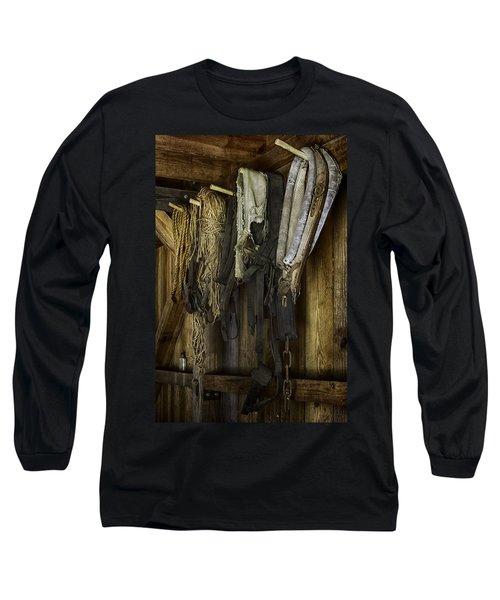 The Tack Room Wall Long Sleeve T-Shirt by Lynn Palmer
