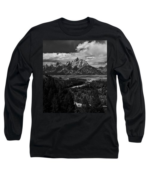 The Tetons - Il Bw Long Sleeve T-Shirt