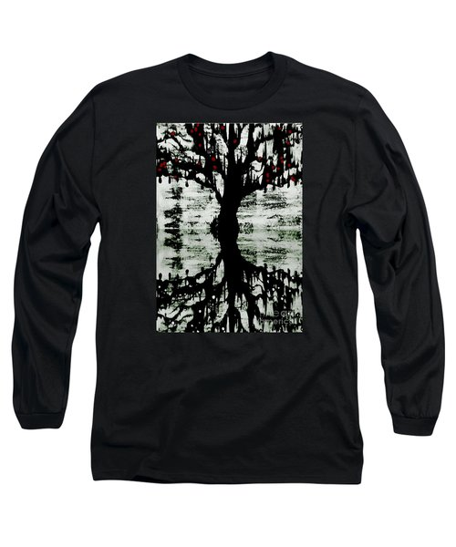 Long Sleeve T-Shirt featuring the painting The Tree The Root by Amy Sorrell