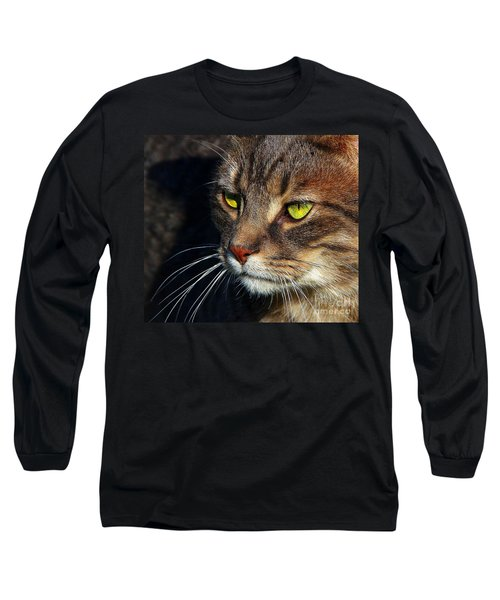 Long Sleeve T-Shirt featuring the photograph The Watcher by Davandra Cribbie