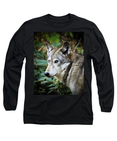Long Sleeve T-Shirt featuring the photograph The Wolf by Steve McKinzie