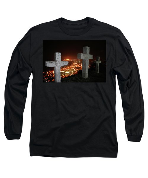 Three Crosses Long Sleeve T-Shirt