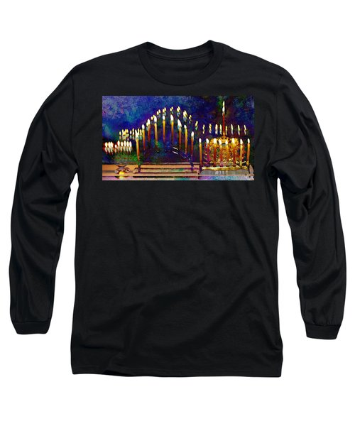 Three Menorahs Long Sleeve T-Shirt
