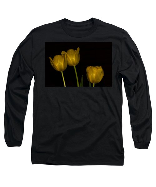 Long Sleeve T-Shirt featuring the photograph Three Tulips by Ed Gleichman
