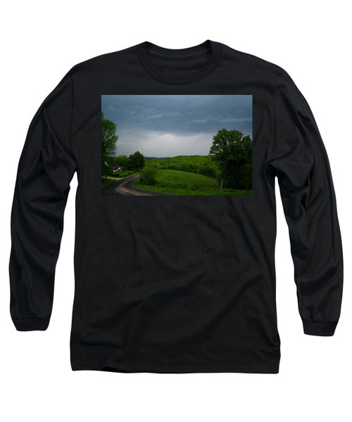 Long Sleeve T-Shirt featuring the photograph Thunderstorm by Kathryn Meyer