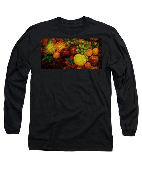 Tiled Fruit  Long Sleeve T-Shirt