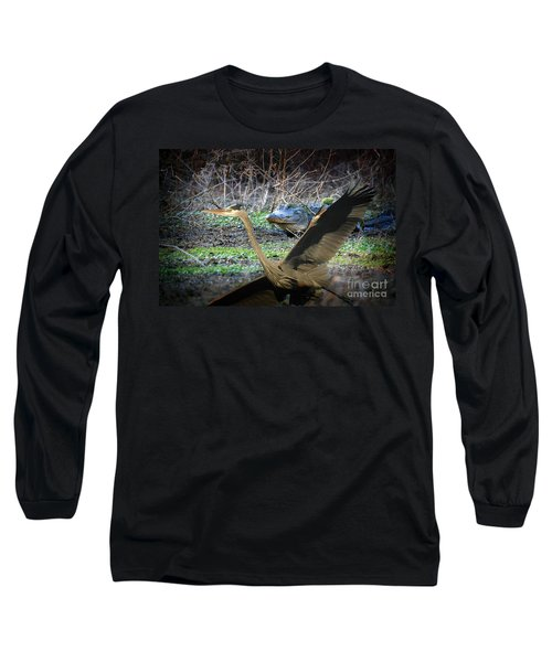 Long Sleeve T-Shirt featuring the photograph Time To Leave by Dan Friend