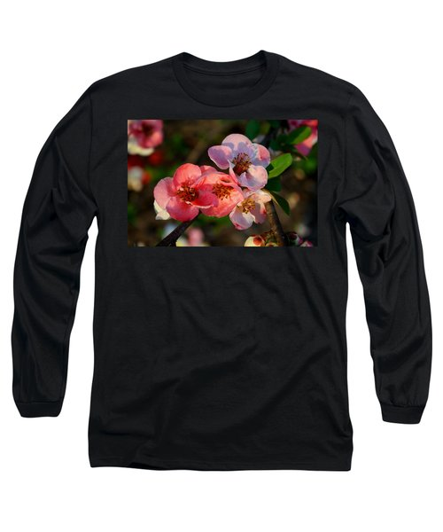 Long Sleeve T-Shirt featuring the photograph Toyo Nishiki Quince by Kathryn Meyer