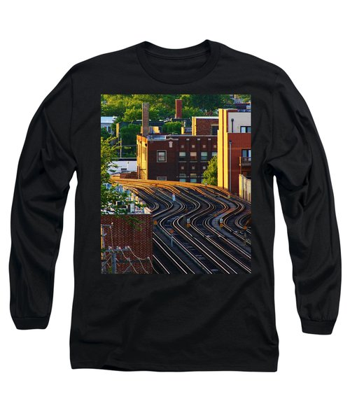 Train Tracks Long Sleeve T-Shirt by Bruce Bley