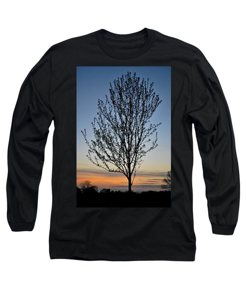 Tree At Sunset Long Sleeve T-Shirt