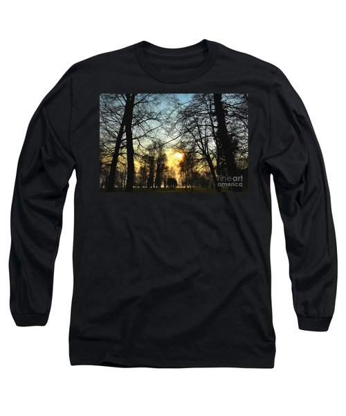 Trees And Sun In A Foggy Day Long Sleeve T-Shirt