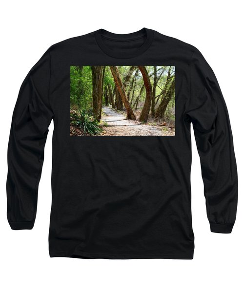 Long Sleeve T-Shirt featuring the photograph Trestle Walk by Kathryn Meyer