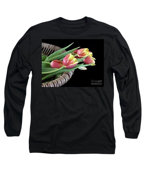 Long Sleeve T-Shirt featuring the photograph Tulips From The Garden by Sherry Hallemeier