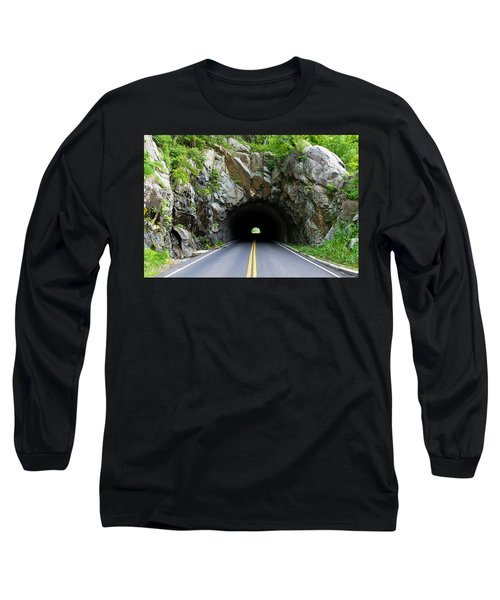 Tunnel On A Lonely Road Long Sleeve T-Shirt