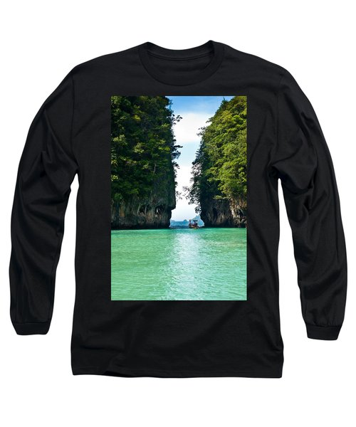 Turquoise Lagoon In Thailand Long Sleeve T-Shirt