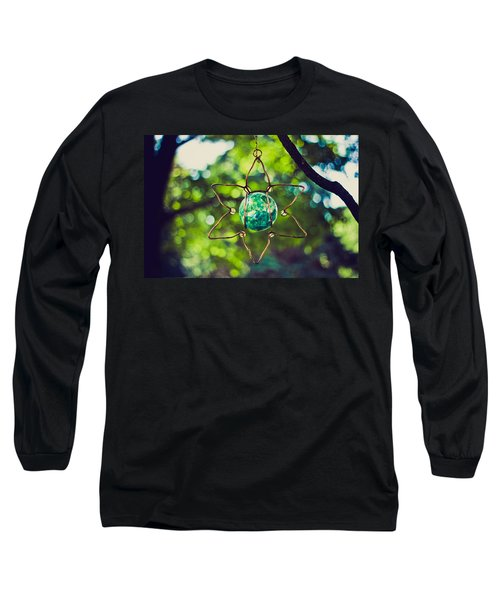 Turquoise Light Long Sleeve T-Shirt by Sara Frank