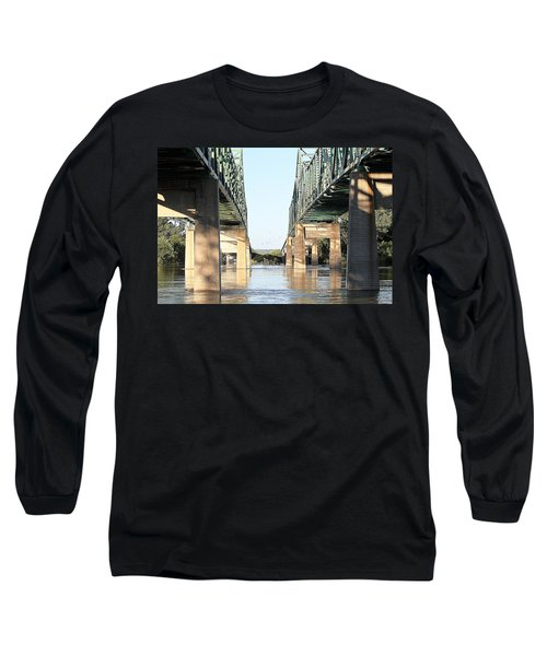 Long Sleeve T-Shirt featuring the photograph Twin Bridges by Elizabeth Winter