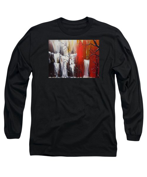 Long Sleeve T-Shirt featuring the painting Valley Of Shadows by Dan Whittemore