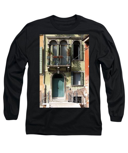Long Sleeve T-Shirt featuring the photograph Venetian Doorway by Carla Parris