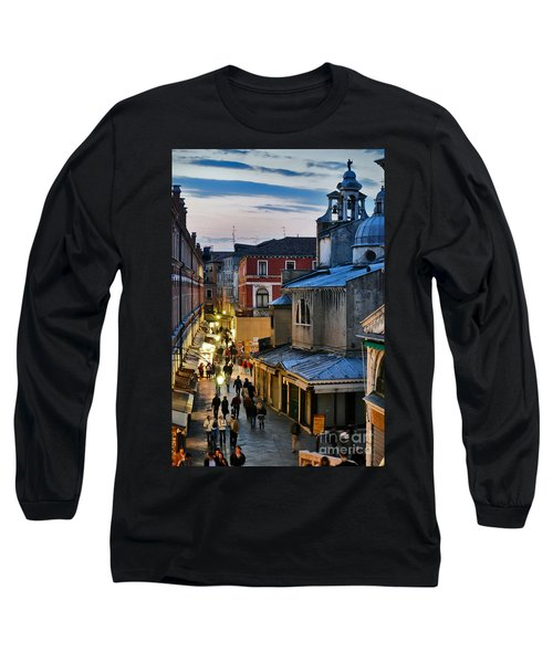 Venice From Ponte Di Rialto Long Sleeve T-Shirt