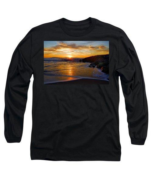 Long Sleeve T-Shirt featuring the photograph Ventura Beach Sunset by Lynn Bauer