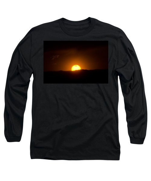 Venus Transit Setting Over The Rocky Mountains Long Sleeve T-Shirt