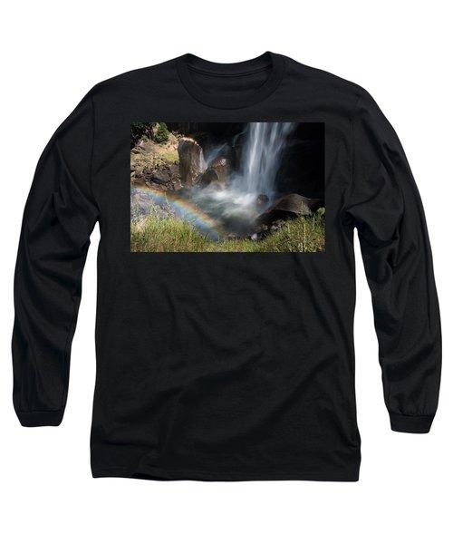 Vernal Falls Rainbow On Mist Trail Yosemite Np Long Sleeve T-Shirt