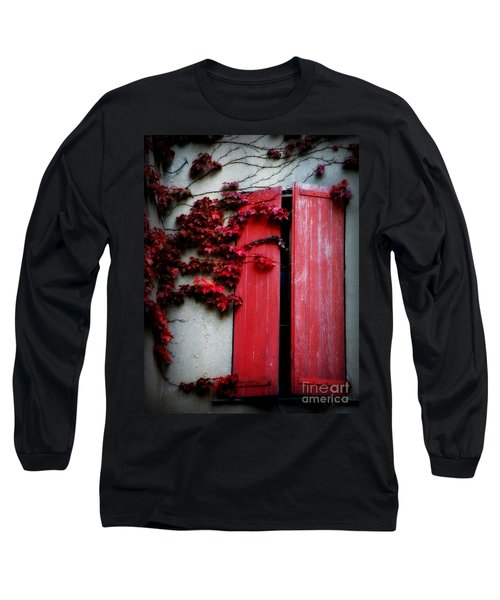 Vines On Red Shutters Long Sleeve T-Shirt