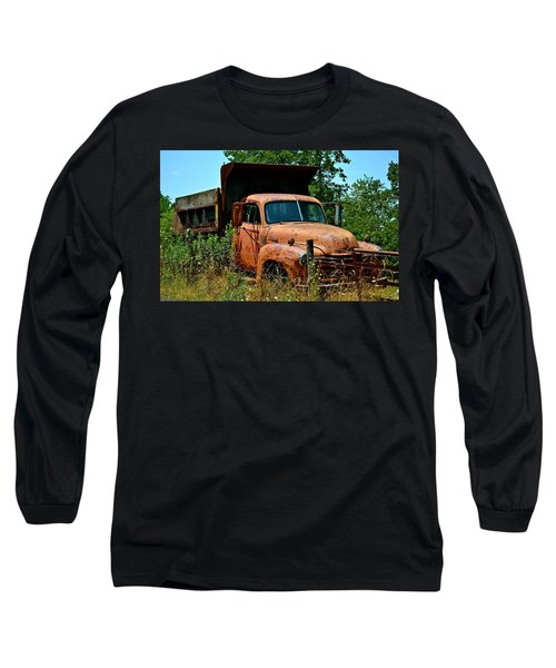 Long Sleeve T-Shirt featuring the photograph Vintage Old Time Truck by Peggy Franz