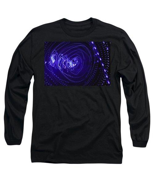 Violet Neon Lights 2 Long Sleeve T-Shirt