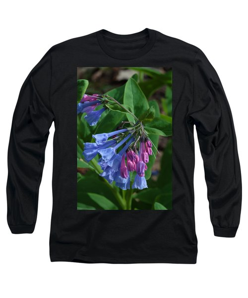 Long Sleeve T-Shirt featuring the photograph Virginia Bluebells by Daniel Reed