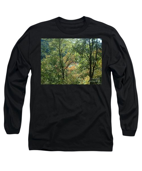 Virginia Walk In The Woods Long Sleeve T-Shirt by Mark Robbins