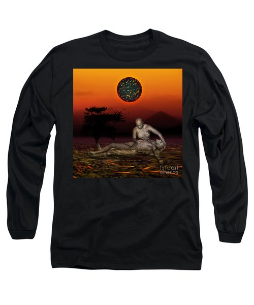 Volcanos Pieta Long Sleeve T-Shirt by Rosa Cobos