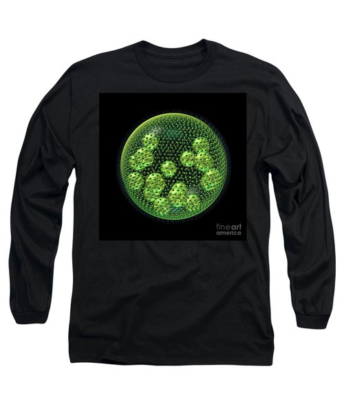 Long Sleeve T-Shirt featuring the digital art Volvox by Russell Kightley