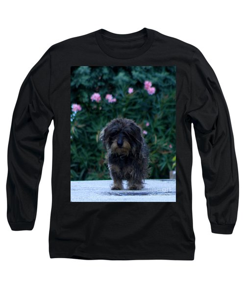 Long Sleeve T-Shirt featuring the photograph Waiting by Lainie Wrightson