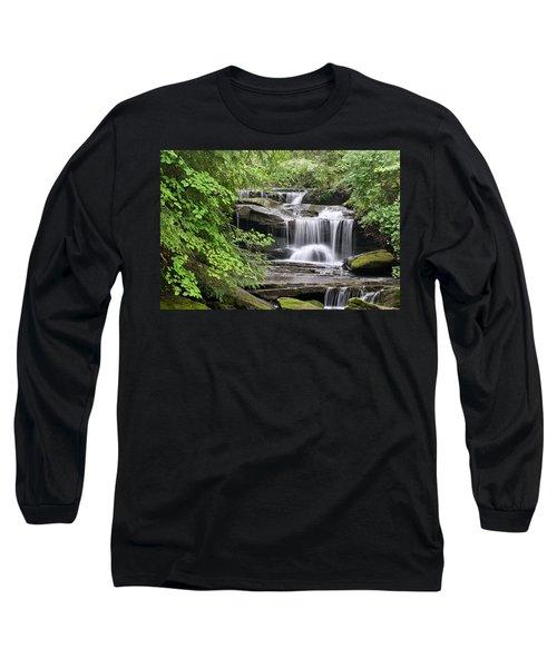 Waterfall Near Mabbitt Spring Long Sleeve T-Shirt