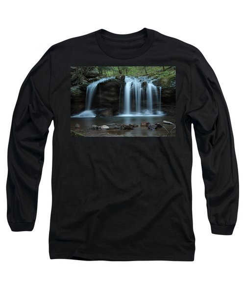 Waterfall On Flat Fork Long Sleeve T-Shirt by Daniel Reed