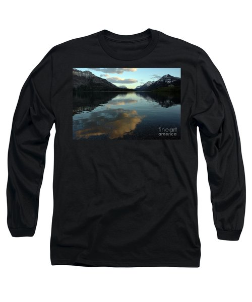 Long Sleeve T-Shirt featuring the photograph Waterton Lake Sunset Canada by Vivian Christopher