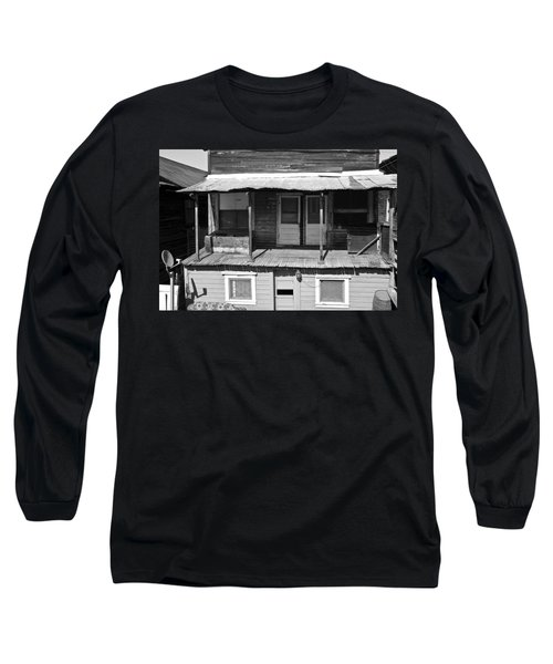 Weathered Home With Satellite Dish Long Sleeve T-Shirt