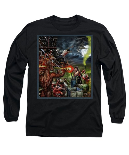 When Food Is Gone We Become.. Long Sleeve T-Shirt by Tony Koehl