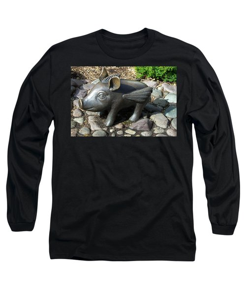 Long Sleeve T-Shirt featuring the photograph When Pigs Fly by Chalet Roome-Rigdon