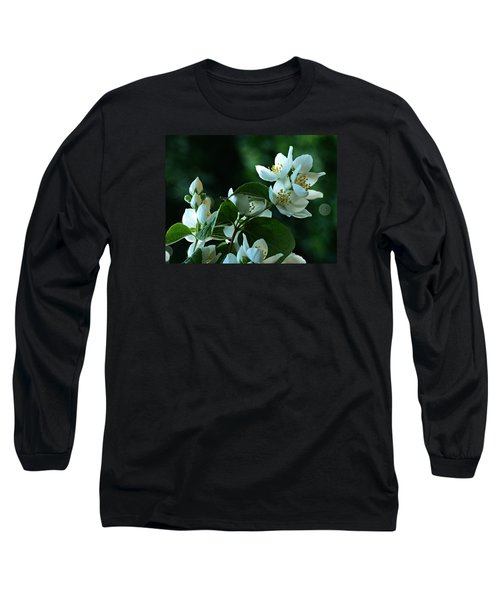 Long Sleeve T-Shirt featuring the photograph White Buds And Blossoms by Steve Taylor