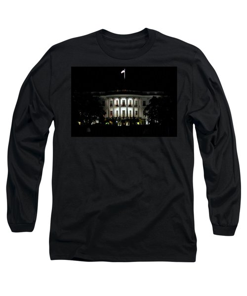Long Sleeve T-Shirt featuring the photograph White House In December by Suzanne Stout