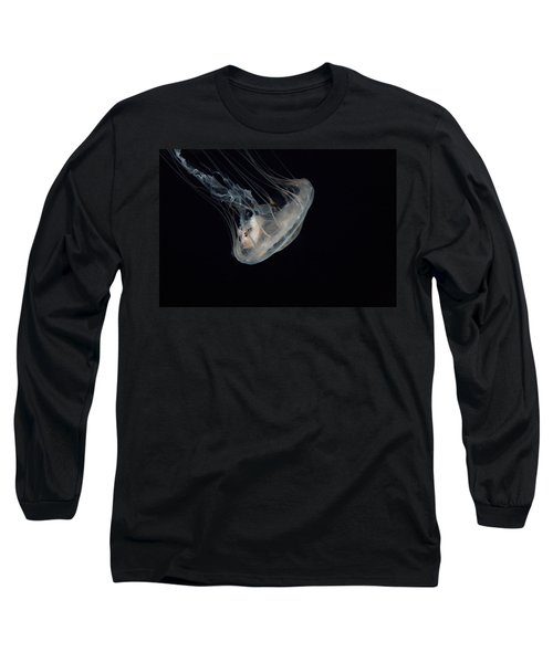 White Jelly In Black Space Long Sleeve T-Shirt