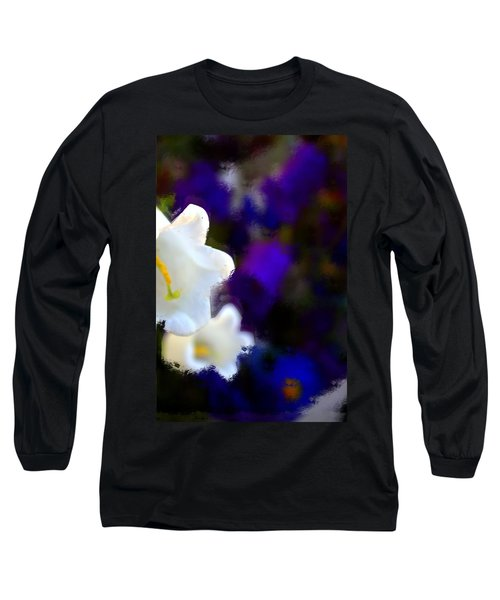 White Purple Long Sleeve T-Shirt by Terence Morrissey