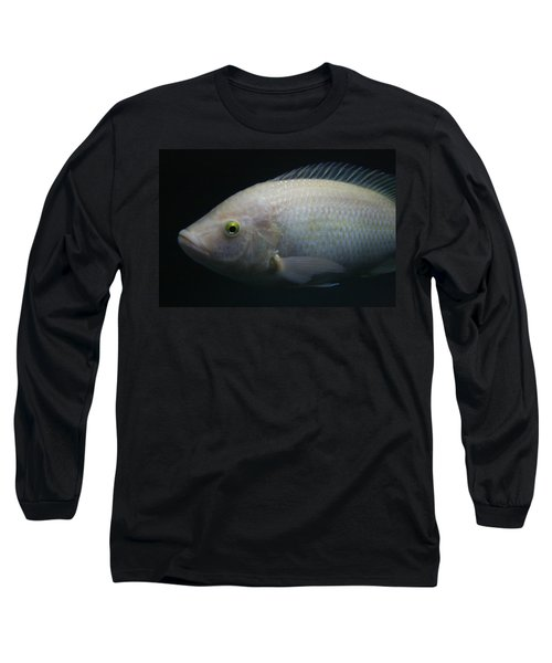 White Tilapia With Yellow Eyes Long Sleeve T-Shirt